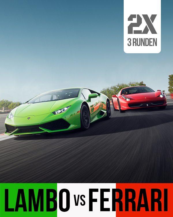 Lamborghini vs Ferrari Selber fahren