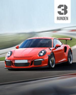 Porsche 911 Rennstrecke 3 runden
